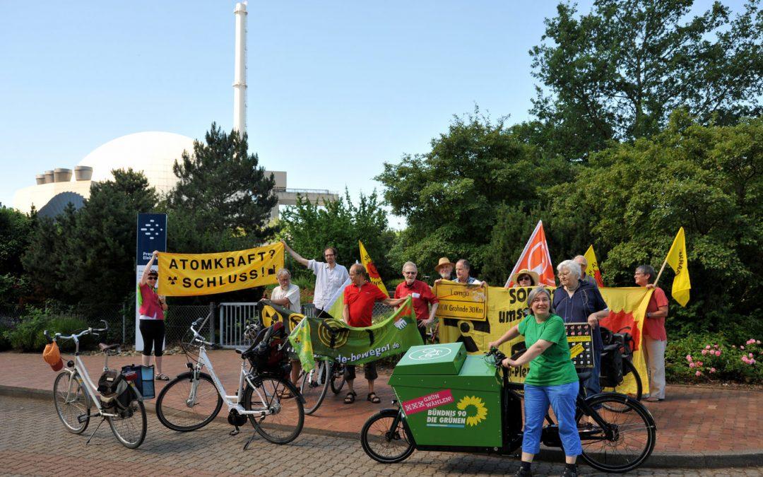 1. Etappe geschafft: Antiatom-Radtour ist von Grohnde nach Bielefeld geradelt!